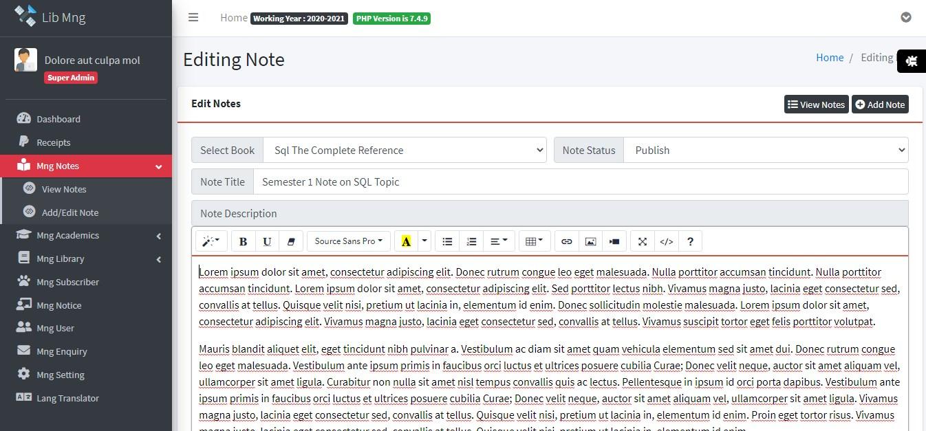 Library Management Management System ScreenShots 0
