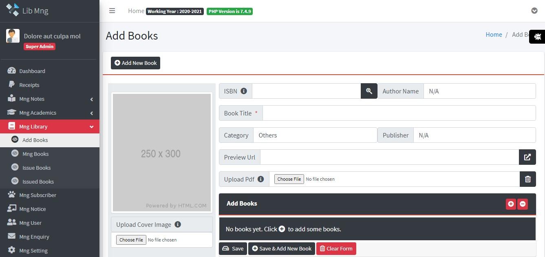 Library Management Management System ScreenShots 1